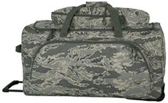 ABU Rolling Duffle from MilitaryLuggage.com.  Over 500 bags for military, law enforcement, ROTC, Fire & EMS, homeland security, and MORE