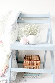 diy chalk paint - on a perfect blue chair