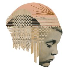 Found Photographs and Book Pages Weave into Textured Collages by Hollie Chastain (Colossal) Dada Artists, Collage Artists, Collage Portrait, Collage Drawing, Collage Illustration, Illustrator, How To Make Drawing, How To Make Collage, Collage Art Mixed Media