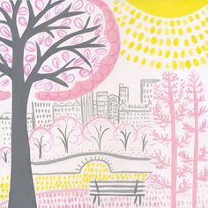 Sunny Central Park  #NYC Kids Print  Manhattan Wall by lisadejohn, $20.00