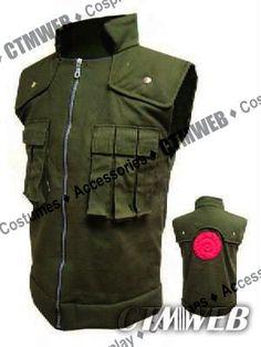Amazon.com: CTMWEB Naruto Cosplay Costume - Kakashi Hatake Vest Green Small: Clothing