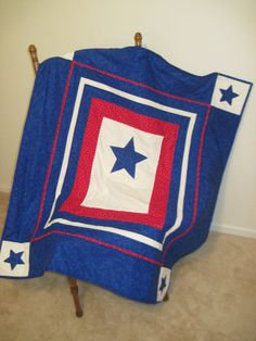 Blue Star Mother Quilt by allamericanquilts on Etsy, $75.00