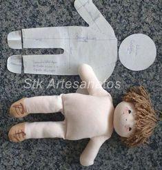 Eu Amo Artesanato: Boneco com molde e passo a passo