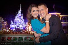 Disney castle engagement photo | Jeff Kolodny Photography Blog - South Florida Wedding Photographer