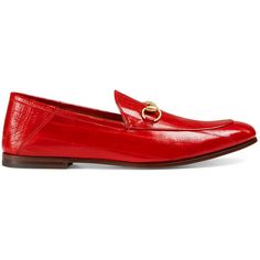 Gucci Eel Loafer ($645) ❤ liked on Polyvore featuring men's fashion, men's shoes, men's loafers, men, precious skins, red, shoes, mens loafers shoes, mens red loafers and mens loafers