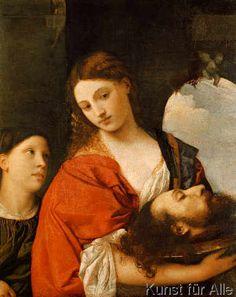 Tizian - Salome mit dem Haupt Johannes des Täufers