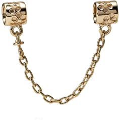 Womens gold pandora floral safety chain -yellow 14 ct from Pandora - £225 at ClothingByColour.com