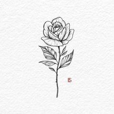 small rose tattoos on wrist outline & small rose tattoos on wrist outline Mini Tattoos, Cute Tattoos, Body Art Tattoos, Small Tattoos, Sleeve Tattoos, Simple Rose Tattoo, Rose Tattoos On Wrist, Flower Tattoos, Rose Stem Tattoo