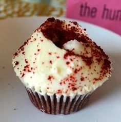 Red velvet cupcake. Hummingbird bakery, london.