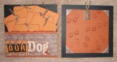#papercraft #scrapbook #minialbum: Dog Album - Page 6-7 (made by Stephanie Hackney/PaperCrafter's Corner)