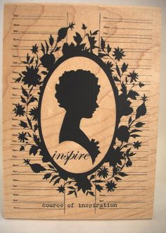 source of inspiration cameo silhouette rubber stamp