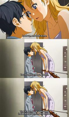 Shigatsu wa Kimi no Uso (Your Lie in April) - Kousei and Kaori <3