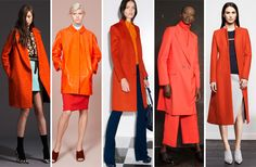 13 Pre-Fall 2014 Trends You Should Get on Board With, STAT   Fashionista. Orange is the New Black: The citrus hue was splashed across pretty much anything and everything, but looked especially great on cozy coats.