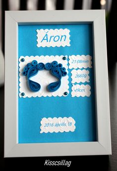 quilling baby blue