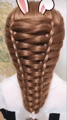 Hairstyle Tutorial # simple Braids with weave Hairstyle Tutorial Easy Hairstyles For Long Hair, Braids For Long Hair, Cute Hairstyles, Wedding Hairstyles, Braids For Girls, High School Hairstyles, Pigtail Hairstyles, Braided Bun Hairstyles, Hairstyles Videos