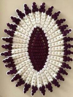 Home Decor Crochet Patterns Part 47 - Beautiful Crochet Patterns and Knitting Patterns Crochet Mandala Pattern, Crochet Doilies, Crochet Flowers, Crochet Stitches, Blanket Crochet, Knitting Patterns, Crochet Patterns, Blanket Storage, Crochet Home Decor