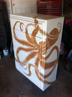 Octopus dresser painted by Regina M.