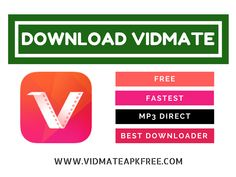 VidMate APK Free Download for Android is available now. Download VidMate APP latest version of our site. We provide the official build of VidMate with 100% security with no risk. You can easily find the all latest version of VidMate Video Downloader here.