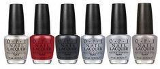 OPI's Fifty Shades of Grey nail polish line