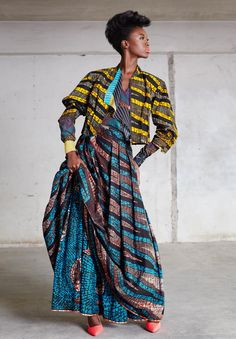 Vlisco DUTCH WAX Textile Co.,  Funky Grooves Collection Fashionlooks