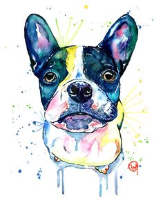 A personal favorite from my Etsy shop https://www.etsy.com/ca/listing/276255250/dog-art-dog-print-dog-watercolour-french