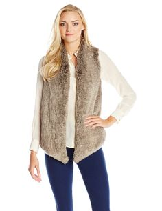 Tart Collections Women's Kya Fur Vest, Grey, X-SMALL