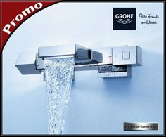 Baterie cada Grohtherm Cube cu termostat Toilet Design, Cuba, Faucet, Water Tap, Wc Design, Kobe, Powder Room Design