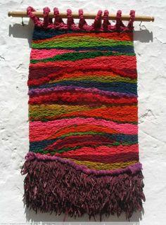 Sin titulo 73    Angelica Romero Tapices  Villa de Leyva Artelista.com … Weaving Textiles, Weaving Art, Tapestry Weaving, Loom Weaving, Hand Weaving, Weaving Wall Hanging, Hanging Wall Art, Art Textile, Textile Design