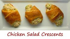 The original recipe for chicken salad crescents on the Plain Chicken blog was for small bite-sized rolls, perfect for a party appetizer. I decided to go big and serve them as the main course for lunch, and they were perfect! The super-light crunchy dough makes for the perfect wrapper around chicken salad. The Worcestershire really added a great flavor dimension along with the extra sharp cheddar. They were fantastic!