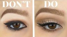 Winged eyeliner looks great if you're going to party, family function or even for a date. But, it looks even beautiful if you use winged eyeliner on hooded eyes. How To Do Winged Eyeliner, Eyeshadow For Hooded Eyes, Eyeshadow For Green Eyes, Simple Eyeliner, Natural Eyeshadow, Cream Eyeshadow, Eyeliner Hacks, Eyeliner Styles, No Eyeliner Makeup