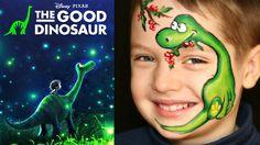 "The Good Dinosaur — Face Painting Tutorial — Аквагрим ""Динозавр"""
