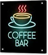 Coffee bar, coffee, bar, bars, lights, mug,mugs, neon,neons, light, typography, vintage, 90's,80's,