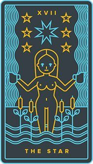 The meaning of The Star from the Golden Thread Tarot deck: Rise above your day-to-day and connect with the divine.
