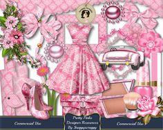 Digital Scrapbooking, Designer Resources, Scrap Kits, Pink Damask, Ladies Fashion, Pink Damask, Digital Elements, Card Making, Paper Crafts