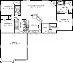 Floor Plans for modular ranch waterfront homes | One Story Modular ...