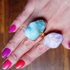 Purple Druzy Ring
