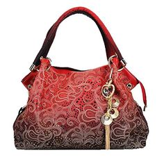 ORICSSON Girls Style Top Handle Leather Tote Weekender Handbag   Continue  to the product at the 157d2edd471c5