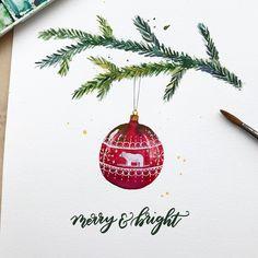 1,092 vind-ik-leuks, 9 reacties - Sini, 24 (@vanamodesigns) op Instagram: 'The painting is one of my Christmas card designs. Maybe next year I have these in English too! I…'