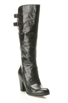 'Born' Boot In Black Leather.