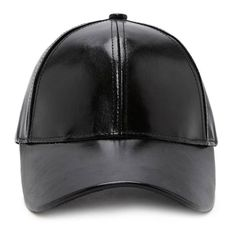 fef701705d0fa Forever21 Faux Leather Baseball Cap (29 BRL) ❤ liked on Polyvore featuring  accessories, hats, black, strap hats, baseball cap hats, ball cap, baseball  caps ...