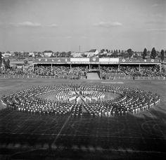Slovanistický štadion a naňom generálka na spartakiadu.