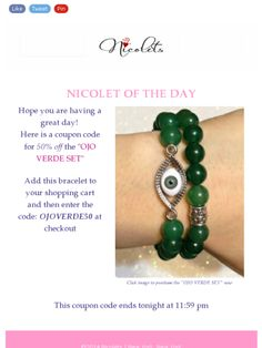 Coupon Code! Check out this Mad Mimi newsletter #bracelet #coupon #couponcode #deal #shopsmall #smallbusiness #coupons