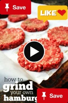 Grind your own hambuGrind your own hamburger