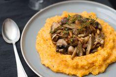 Bijgerecht: Pompoen-aardappelpuree met paddenstoelen - OhMyFoodness