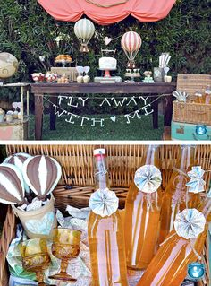 Hot Air Balloon Party from Sweet Indeed - Ideas for weddings, celebrations, table settings, bar themes, party get-togethers, etc.
