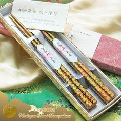 Traditional lacquered chopstick Traditional Tsugaru Kara Nuri Gokusaishoku (Tama Kogane) Couple of Chopsticks 2pcs (two pairs)