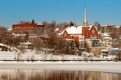 Sherbrooke during winter time Canada, Winter Time, Quebec, Places Ive Been, Paris Skyline, Boston, Photos, Spaces, Explore