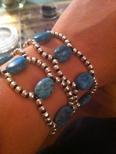 Turquoise and Seed Bead Loop Bracelet with by PiperLoDesigns, $25.00
