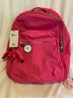 Kipling Seoul Go Large Backpack - Laptop Protection - Pink Hydrangea NWT Kipling Backpack, Kipling Bags, Laptop Backpack, Black Backpack, Leather Briefcase, Leather Bags, Pink Leather, Cute Mini Backpacks, Under Armour Sweatshirts