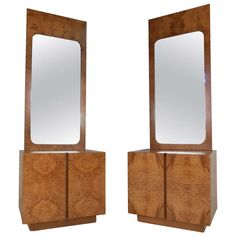 Olive Burl Wood dressers and mirrors from Lane c 1970s  http://www.1stdibs.com/furniture/more-furniture-collectibles/bedroom-sets/